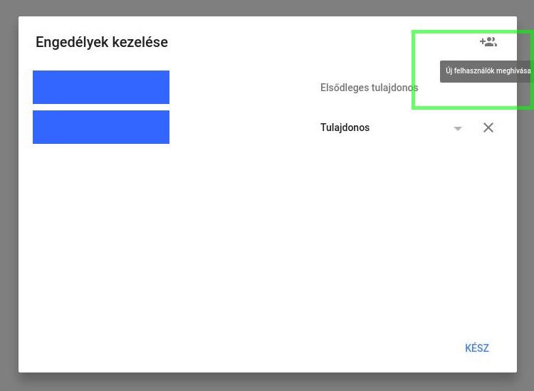 Google Cégem új felhasználó meghívása