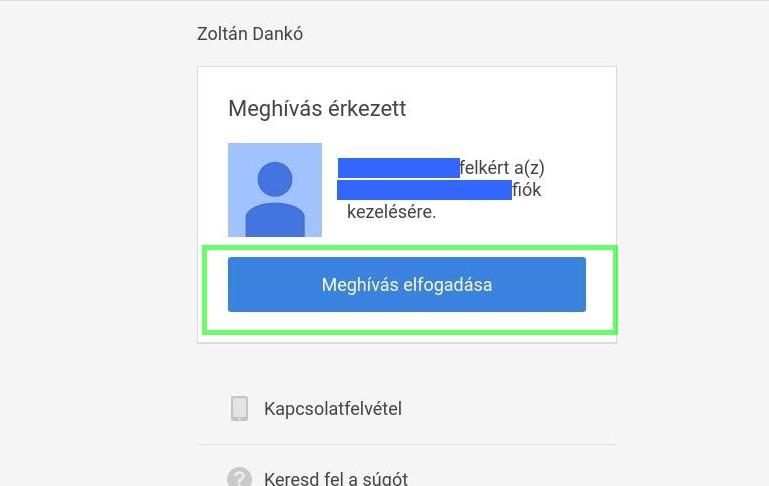 Google Cégem meghívás elfogadása